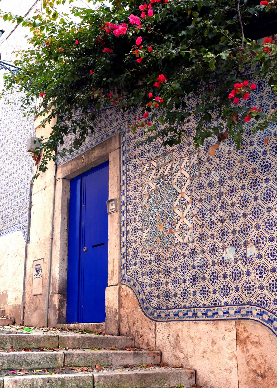 blaue Fliesen Lissabon
